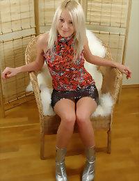 Lovely despondent blonde
