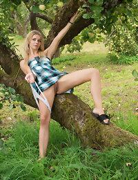 Blonde babe posing naked