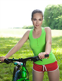 Biker feeling too sexy