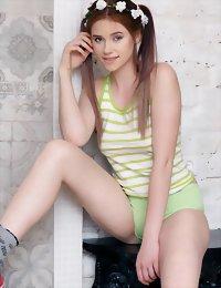 Cute slim girl posing